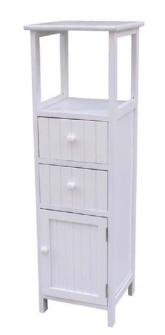 Möbel 2 Schubladen und 1 Türe 28x27x94cm weiss