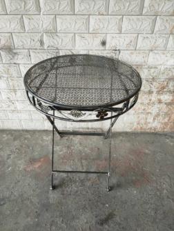 Metall antrazit Shabby chic Tisch klappbar rund, d60xh72cm