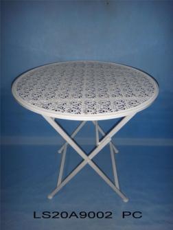 Metall weiss Shabby chic matt Tisch klappbar rund, d67xh70cm