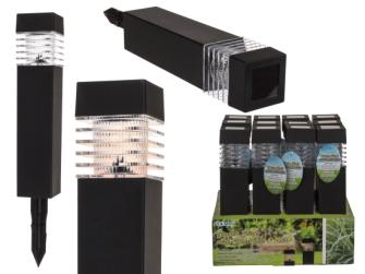 LED Outdoor Lampe Gartenstecker Solarzelle (inkl. Batterien) 39.5x5.8cm Kunststoff