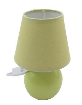 Tischlampe mit Schirm und Keramikfuss apfelgrün 10x10x9.5cm