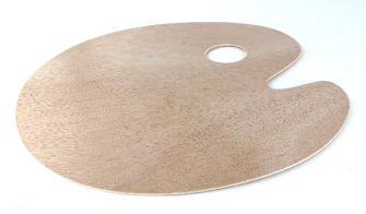 Farbpalette Holz 3mm 30x25cm