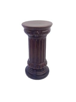Säule rund in Holzoptik braun 17x33cm Keramik