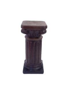 Säule eckig in Holzoptik braun 13x30cm Keramik