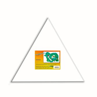 Leinwand auf Keilrahmen 18mm, Dreieck-Form 20cm