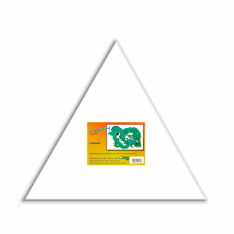 Leinwand auf Keilrahmen 18mm, Dreieck-Form 30cm