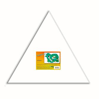 Leinwand auf Keilrahmen 18mm, Dreieck-Form 40cm