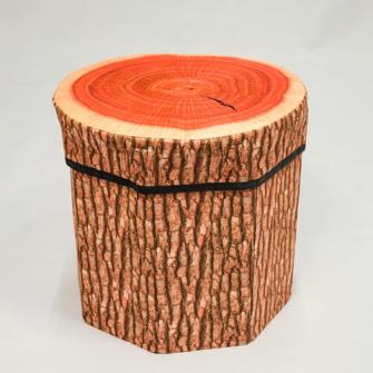 Hocker faltbar 30x30cm Baumstammdesign