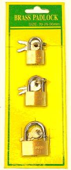Vorhängeschloss 20/25/30mm 3 Stck