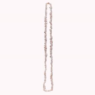 Halbedelstein Halskette Rosenquarz 85cm