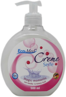 Cremeseife Magic Moments Vanille und Kokos Duft 500ml ohne Mikroplastik