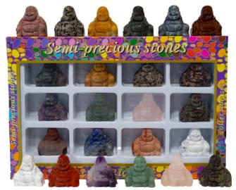 Halbedelstein Buddha 3.5x2x3cm im Display