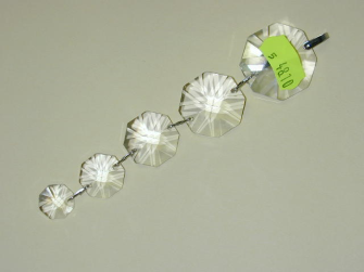 Kristallglas Feng Shui Kette 14-18-22-26-30mm Kleeblattschliff