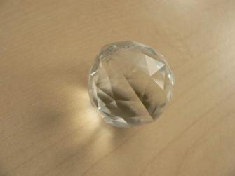 Kristallglas Kugel 20mm Dreieck-Facetten
