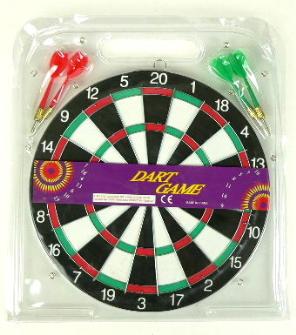 Dartspiel mit 4 Pfeilen 29cm