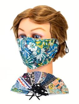 Gesichtsmaske florale Muster mit verstellbaren Bändern zufällig gemischt waschbar (mit €-Preis 3.99)