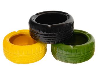 Aschenbecher Reifenform Keramik 3ass