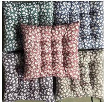 Kissen Blumen ass Polyester/Baumwolle 38x38cm