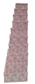 Geschenkboxen Blätterranken 10er Set 19x13x7.5cm bis 37.5x29x16cm