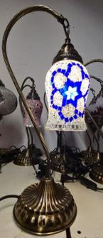 Mosaik Tischlampe hängend h43cm Diam. 11cm Glockenform Türkei ass