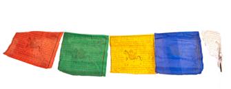 Gebetsfahnen 26cm auf Schnur 200cm NEPAL 5ass