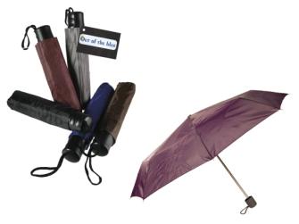 Taschenregenschirm uni 87cm 5ass