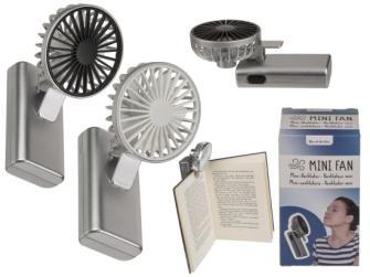 Ventilator mit Klemme 6x11cm 2ass für 2 Mignon Batterien (AA)