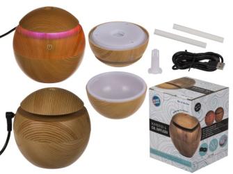 Diffuser/Luftbefeuchter Holz Optik 7 Farbwechsel LED und USB-Kabel 120 ml