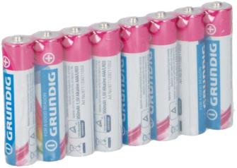 Batterien AAA LR03 8 Stck Grundig Alkaline  06/2022