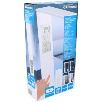 Grundig Schreibtischlampe 29 LED und USB G1000Mah Rechargable 9.5x6.5x46cm