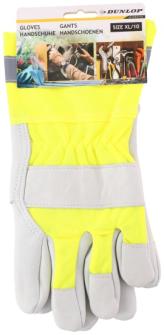 Handschuh Arbeits-/Gartenhandschuhe gelb Leder Dunlop 13x30cm