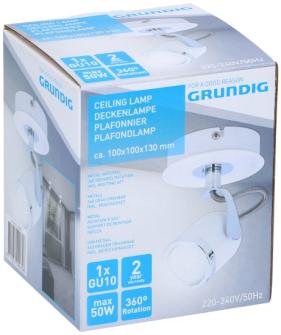 Grundig Deckenlampe 1xGU10 max 50w excl. Birnen 10x10x13cm