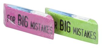"""Radierer XXL """"For Big Mistakes"""" 14x4.5x1.8cm"""