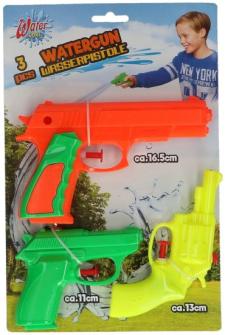 Wasserpistole 3er Set 11-13-16,5cm
