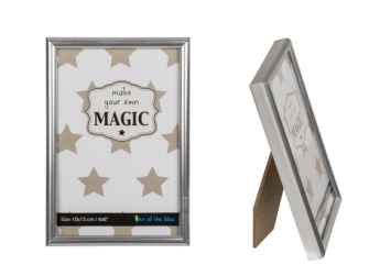 Bilderrahmen Pure Silber 10x15cm Kunststoff