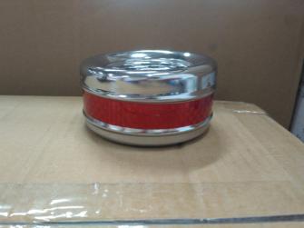 Aschenbecher Metall rot blau gelb 3ass