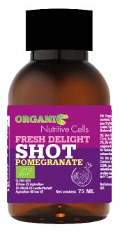 "Bio Shot ""Fresh Delight!"" Granatapfel 75ml in Glasflasche"