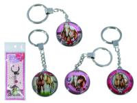 Schlüsselanhänger Pferd Metall 10cm 4 ass