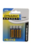 Batterien AAA ultra 4Stk Dynamic energy
