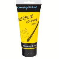 Acrylfarbe 200ml Zitronengelb matt