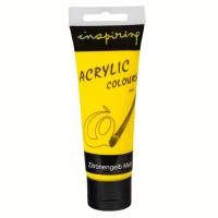 Acrylfarbe 75ml Zitronengelb matt