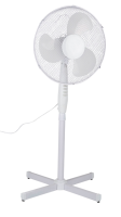Ventilator Standventilator mit Drehfunktion, weiss 40cm 42W  3 Stufen 54x12x44cm