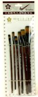 Pinsel flach 6erSet L21cm